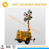 9m de altura, generador de 4kw Mobile Torre de Luz