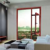 Finestra di alluminio di legno della ciliegia standard di legno solido del Medio Oriente (FT-W70)