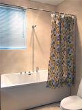 Cortina de ducha impermeable del PVC de la flor hermosa para el cuarto de baño