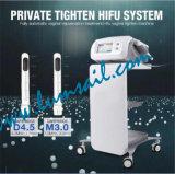 Máquina de ajuste vaginal de ajuste vaginal de Hifu del uso de la clínica del salón de las mujeres