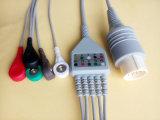 Câble de Nihon Kohden Snap&Clip Rou11pin 5 ECG