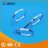 Acier nu, solides solubles type matériel et auto-bloqueur serres-câble de 304 de boule de commande de blocage de bande d'acier inoxydable