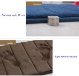Flannel 양털 기억 장치 거품 지면 매트
