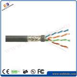 Câble d'installation de twisted pair du chat protégé par F/FTP 6A