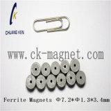 Ck229によって焼結させる亜鉄酸塩の磁石のΦ 7.2*Φ 1.3*3.4mm