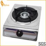Cuiseur de gaz simple d'acier inoxydable de brûleur à fer de fonte (JP-GC101)