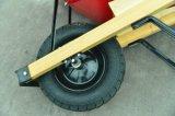 Nunca Pneu Pega de madeira Wheelbarrow Quadrados
