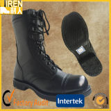 Black Genuine Cow Leather Cheap Military Ranger Defender Boot Combat