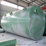 Fosse septique horizontale utilisée par fibre de verre de traitement d'eaux d'égout