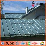 PVDFカラー上塗を施してある屋根ふきの建築材料