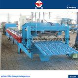 Alta qualità ISO9001: Rullo d'acciaio 2008 del tetto delle mattonelle di punto di qualità di Yufa che forma macchina
