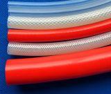 Голубой рукав с плетеной внутренней прокладкой силикона, рукав с плетеной внутренней прокладкой силикона, шланг волокна силикона без запаха