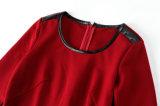 PU Constract платья 2015 повелительниц осени новым подпоясанный способом