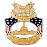 De aangepaste Harde Fabrikant die van de Spiegel van het Kenteken van de Marine van het Email Gouden Medaillon maken