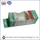 Caixa de papel de produção OEM com a arte da janela Caixa de oferta de dobragem de papel