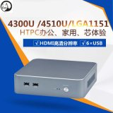 HTPC мини-компьютер облако клеммой 4300u, 4510U, корпус LGA1151 промышленного компьютера