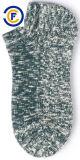 Calzini di colore del Melange di Elastane del poliestere del cotone degli uomini