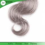 Keine Verwicklung kein verschüttendes Karosserien-Wellen-graues Farben-Qualitäts-Menschenhaar 100%