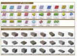 Machine de fabrication de briques complètement automatique creuse des blocs Qt10-15 concrets