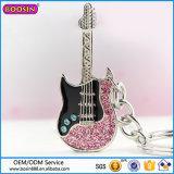 Encanto de la guitarra del Rhinestone de la alta calidad para Keychain # 16011