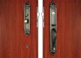 Serratura di portello in lega di zinco di portello del cilindro standard americano d'ottone di lusso delle maniglie