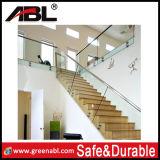 Перила нутряных лестниц нержавеющей стали стеклянные (DD138)