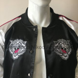 OEM Custom Fashion logo brodé Veste satin