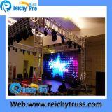 Exposição ao ar livre Trussr do concerto da visualização óptica do estágio do evento