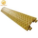 Haltbarer Kanal-gelber Fußboden-Kabel-Schoner des Plastik1