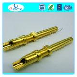 Kundenspezifische hohe Polier-CNC-maschinell bearbeitenteile mit Gold-Filled Überzug-Beschichtung