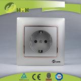 CE/TUV/CB Certified Европейский стандарт красочные токопроводящей дорожки 1 розетка Schuko ЧЕРНОГО ЦВЕТА