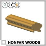 Escalier de matériau de construction clôturant la balustrade en bois solide de longeron d'escalier