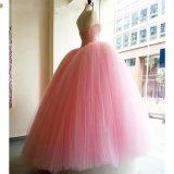 Платье венчания Rr9009 Tulle кристаллический Bridal мантий шарика красное белое розовое тучное реальное