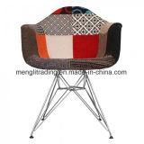 Alta calidad de patas de metal tejido confortable silla de comedor