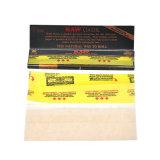 Comercio al por mayor de 110mm Negro Raw Raw en papel de fumar cigarrillos de papel para laminación