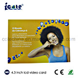 Beste verkaufenprodukte 4.3 Zoll kundenspezifische videoc$broschüre-video Karte
