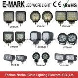 Emark luz redonda/cuadrada de 27W del punto/de la inundación 4inch LED del trabajo