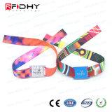 Wristband del tessuto del braccialetto MIFARE 1K RFID di HF di evento di sport 13.56MHz