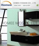El vidrio modificado para requisitos particulares del cuarto de baño embaldosa la hoja del azulejo de mosaico del subterráneo del vidrio verde