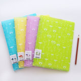 Cuaderno plástico del atascamiento de peine, diario para la oficina y escuela