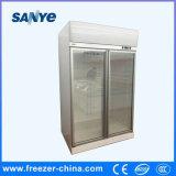 Congelador de refrigerador vertical del refrigerador de la puerta doble