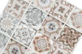 La impresión de inyección de tinta decoración cuarto de baño azulejo mosaico de vidrio