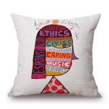 cassa di tela del cuscino del sofà del cotone della stampa dell'aerostato di arte di schiocco di 45X45cm (35C0233)