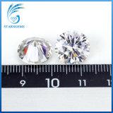 10의 캐럿 백색 색깔 보석을%s 우수한 화려한 커트 Moissanite 다이아몬드의 둘레에