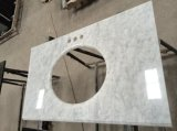 Tapas de mármol blancas de la vanidad de Bianco Carrara