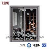 Porte en verre de glissement de salle de bains d'usine de Foshan avec le bâti en aluminium