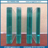 Vidrio rodado vidrio inferior de la plata E del triple de la seguridad de la construcción de edificios