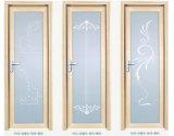 Deur van de Gordijnstof van de Badkamers van de Legering van het aluminium de Franse met Dubbel Glas