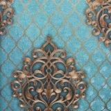 Het goedkope Diepe In reliëf gemaakte Behang van het Huis van de Ontwerpen van de Bloem