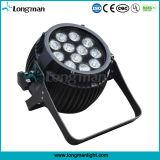 12*5W Blanco en el exterior de aluminio Dia-Casing PAR LED Luz Can